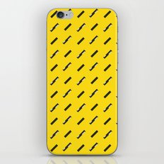 Black, white and yellow pattern iPhone & iPod Skin