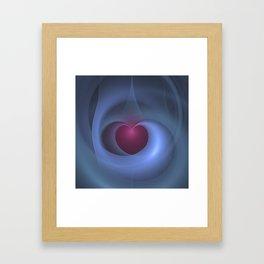 Take Care of My Heart Fractal Framed Art Print