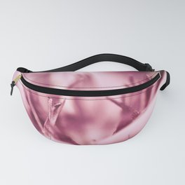 Abstract pink flower details Fanny Pack