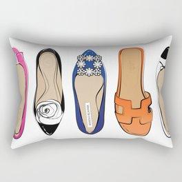 Designer Brand Shoes Rectangular Pillow