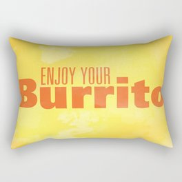 Enjoy Your Burrito Nerdist Rectangular Pillow