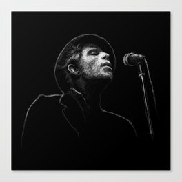Tom Waits (scribble style) Canvas Print