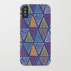 Doodle Geometric Triangles iPhone X Slim Case