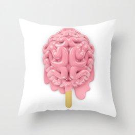 Popsicle brain melting Throw Pillow