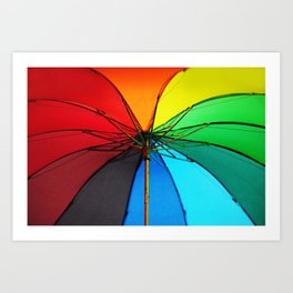 Rainbow Umbrella  Art Print