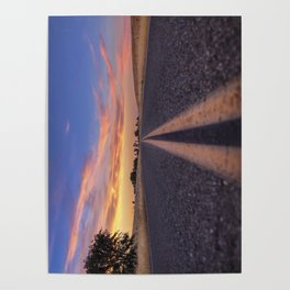 Follow the.... Millville Plains Road at sunset Poster