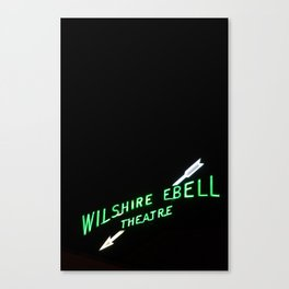 Wilshire Ebell Theatre Neon Sign - Los Angeles, CA Canvas Print