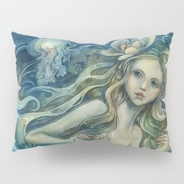 mermaid with Flowers in her hair Pillow Sham