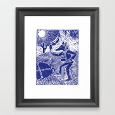 Coyote Dancer (Violet) Framed Art Print