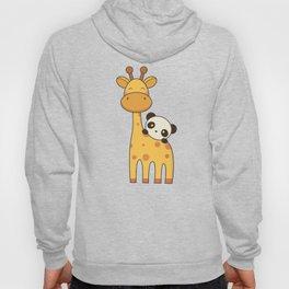 Cute and Kawaii Giraffe and Panda Hoody