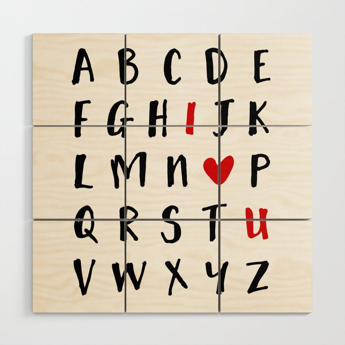 26 Letters In The Alphabet And I Love U Valentines Day Love Quote