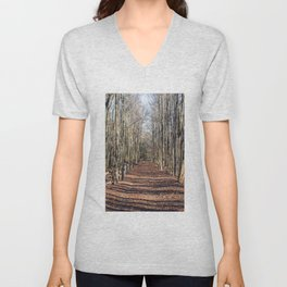 Follow me down... When the leaves come falling down... Unisex V-Neck