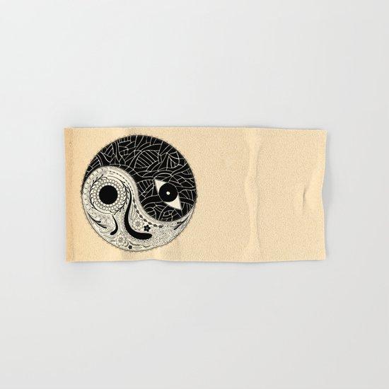 - yin & yang - [collaborative art with famenxt] Hand & Bath Towel