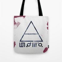 30 seconds to mars Tote Bags featuring 30 Seconds of Mars Watercolor by sky0323