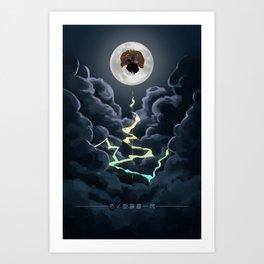 Zenitsu Moon Art Print