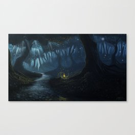 Dusk in the forest Canvas Print