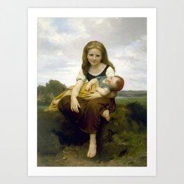 William Bouguereau - The Elder Sister, 1869 Art Print