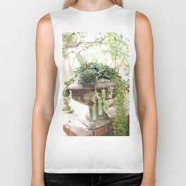 Overflowing Succulents Biker Tank