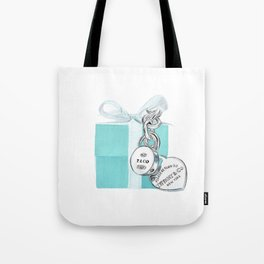 Blue Jewellry Box Tote Bag