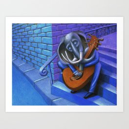 Too Close Blues Art Print