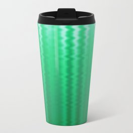 Green and Blue Ombre Soft Wavy Lines Travel Mug