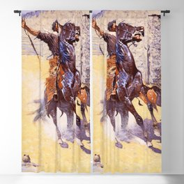 """""""The Apaches - Raising The Alarm"""" by Frederic Remington Blackout Curtain"""