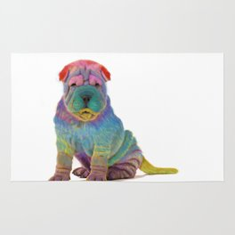 Colorful Sharpei Rug