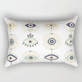 Evil Eye Collection on White Rectangular Pillow