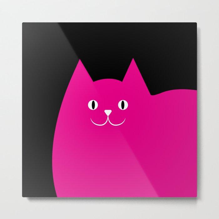 Pink Cat Metal Print