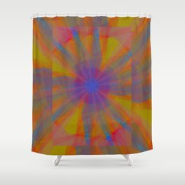 Indian Summer: Burst Shower Curtain