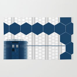 Tardis Shadow Blue Box Rug
