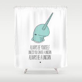 Narwhal love Shower Curtain