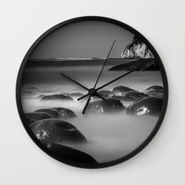 Exposed Bowling Ball Beach Northern California Wall Clock