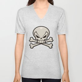 Skull and Crossbones Unisex V-Neck