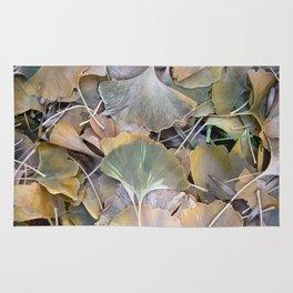 Fall Ginko Leaves Rug