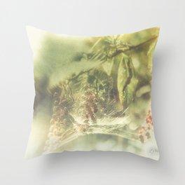 Tela Aranearum Throw Pillow