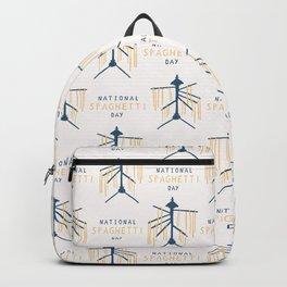 National Spaghetti Day Drying Rack Backpack