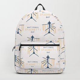 National Spaghetti Day Drying Rack Backpack