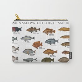 Saltwater Fishes of San Diego Carry-All Pouch