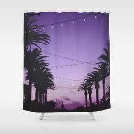 Tropical Summer Night Shower Curtain