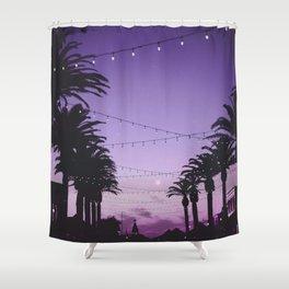 Tropical Summer Night Shower Curtain