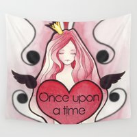 once upon a  time Wall Tapestries featuring Once Upon a Time by Reiv