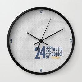 24 Hour Plastic People Wall Clock