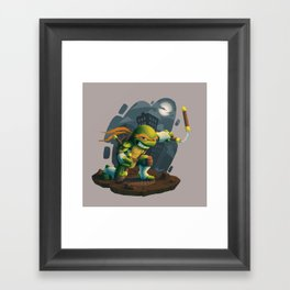 Chibi - Michelangelo Framed Art Print