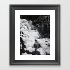 Frozen Waterfall Framed Art Print