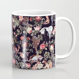 Animals and Floral Pattern Coffee Mug