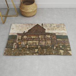 Egon Schiele - House with Shingle Roof Rug