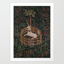 Unicorn Magical Animal Medieval Art Art Print