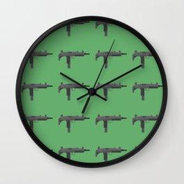 Uzi submachine gun Wall Clock