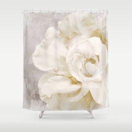 Petals Impasto Alabaster Shower Curtain